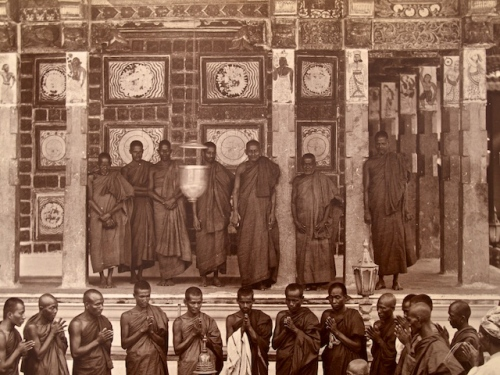 Theravada Monks (Detail), Albumen Photograph, Circa 1880.