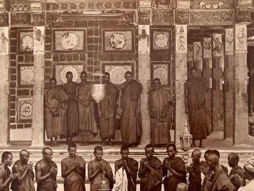 Theravada Monks (Detail), Albumen Photograph, Circa 1880.
