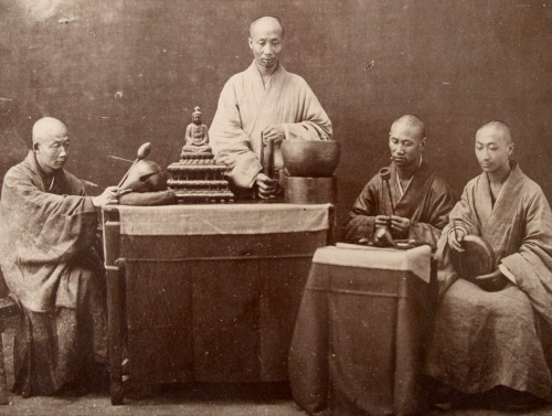 Zen Monks, Albumen Photograph, Circa 1880.