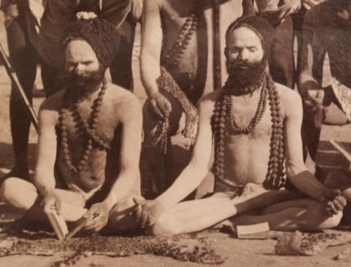 Indian Sadhus (Detail), Albumen Photograph, Circa 1880.