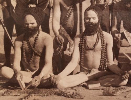 Indian Sadhus (Detail), Albumen Photograph, Circa 1880.